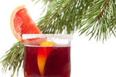 Grapefruit Mulled Wine (Punch) — Stock Photo