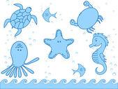 Abitanti marini — Vettoriale Stock