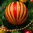 Christmas balls on the fur-trees branch - Stockfoto