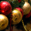 Christmas balls on the fur-trees branch — Stock Photo #1235872