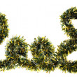 2008 Made from Gold Chrismas Tinsel - Stock Photo