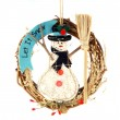 christmas snowmans doll — Stock Photo