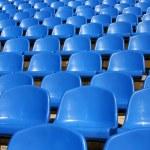 leere plastik plätze im stadion — Stockfoto