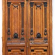 Wooden Brown Carved Door — Stock Photo