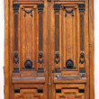 Stock Photo: Wooden Brown Carved Door