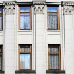 Historical building windows — Stock Photo
