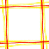 Yellow-red thread square pattern — Stock Photo