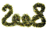 2008 Made from Gold Chrismas Tinsel — 图库照片