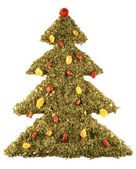 Christmas tree from tea isolated on whit — Stock Photo