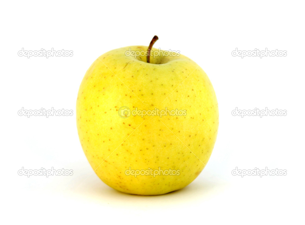Yellow Apple Pictures Yellow Apple Isolated on White