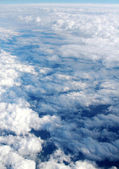 View from airplane window — Stock Photo