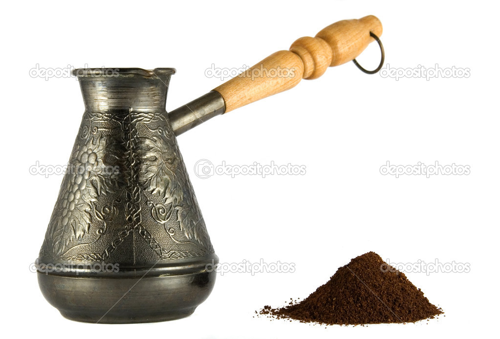 Stock Photo Cezve With Coffee Powder on 1249280