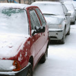 Snowy cars — Stock Photo