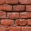 Red bricks wall background — Stock Photo