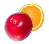 Red apple and juicy orange — Foto Stock