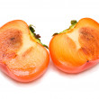 Cut persimmon — Stock Photo