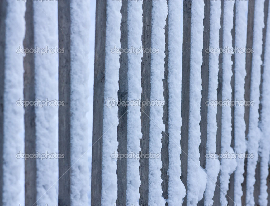Closeup of snow fence. Shallow DOF.  — Stock Photo #1434303