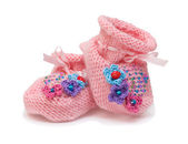 Pink bootees — Stock Photo