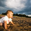 Stock Photo: On beach