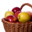 Royalty-Free Stock Photo: Basket of apples on white background
