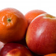 Apples and mandarins — Stock Photo