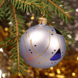 Christmas ball on christmas tree — Stock Photo