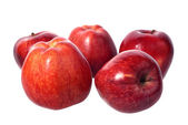 Red apples on white background — Stock Photo