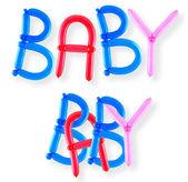 Balloon word baby — Stock Photo