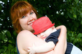 Pretty mother with little son — Stock Photo