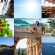 sommaren resor collage — Stockfoto