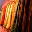 Skeins on a weaving-mill — Stock Photo