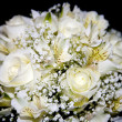Stock Photo: White wedding bouquet