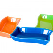 Stock Photo: Three colored sauce-boats