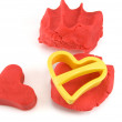 Stock Photo: Red heart and form