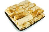 Pancakes on a dish — Stock Photo