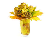 Autumn yellow leaves bouquet — Stock Photo