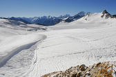 Ice field near Elbrus — Stock Photo