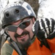 Stock Photo: Smiling biker