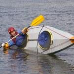 Training before rafting — Stock Photo