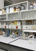 Small biochemical laboratory in moscow university — Foto Stock