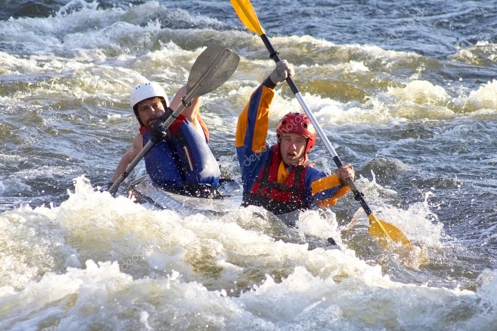Rafting on the Bug river in Ukraine — Stock Photo #1515360