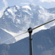 Stock Photo: Mountain wind turbine