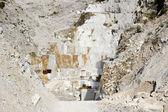 Quarry of white marble — Stock Photo
