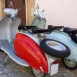 Famous old fashioned italian scooter — Stock Photo #1235281