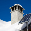 Mountain solar panel — Stock Photo
