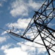 Electric high voltage line — Stock Photo