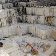 Stock Photo: Quarry of white marble