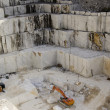 Quarry of white marble - Stock Photo