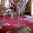 Dinner setting for party — Stock Photo