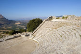 The Theater of Segesta in Sicily — Stock Photo
